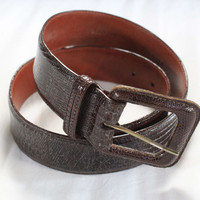 ~~~ SCORE ~~~ POLO RALPH LAUREN BROWN LIZARD WAIST BELT ~ 30