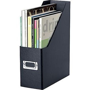 Snap-N-Store™ Magazine File, 1-Compartment, Black, 13