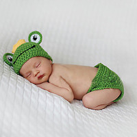 Newborn Baby Girls Boys Crochet Knit Costume Photo Photography Prop = 4457609220