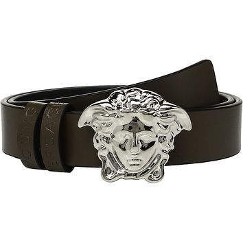 Versace Kids Baby Boy's Leather Belt with Medusa Buckle (Toddler/Little Kids) Green Belt