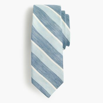 Silk-linen tie in stripe : Men novelty | J.Crew