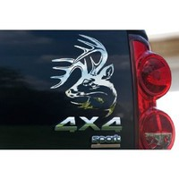 Legendary Whitetails Truck Buck Window Decal Chrome Large