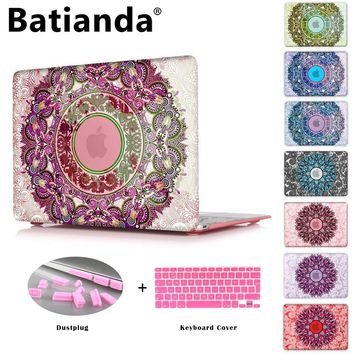 Crystal Case For Apple Macbook Air 13.3 11 Pro 13 12 15 Retina Laptop Print Cover 2016 2017 New Touch Bar Model + Keyboard