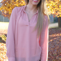 Business Beauty Blouse-Mauve