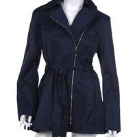 Vince Camuto Side Zip Trench Coat in Navy