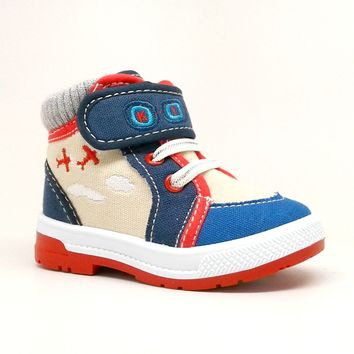 Baby Boy Red Airplane Themed Sneaker