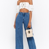 Seamed Flare Jeans