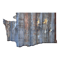 Washington Faux Wooden wall decal