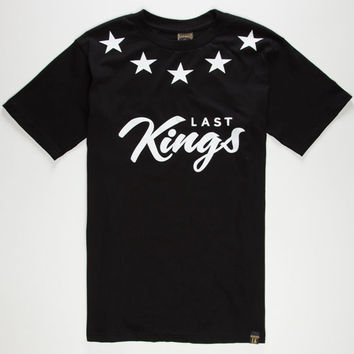 Last Kings Kings Mens T-Shirt Black  In Sizes