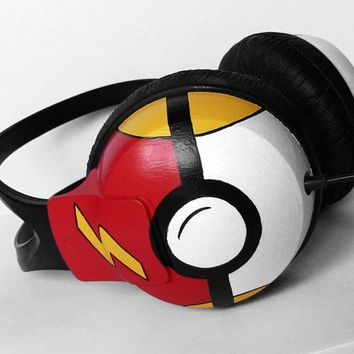 Pokephones headphones earphones in black red and by ketchupize