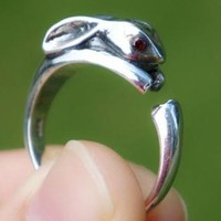 925 Sterling Silver Bunny Ring