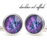 Galaxy  cufflinks ,wedding present ideas,perfect gift for dad,birthday ideas for him,birthday present ideas for dad
