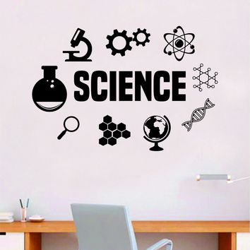 Science Quote Decal Sticker Wall Vinyl Art Home Room Decor Teacher School Classroom Work Job Smart Learn Chemist
