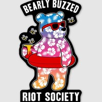 Bearly Buzzed Sticker