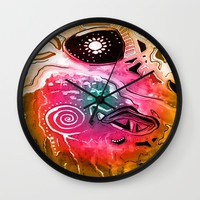Map Wall Clock by Fruit Of Phalanges | Society6