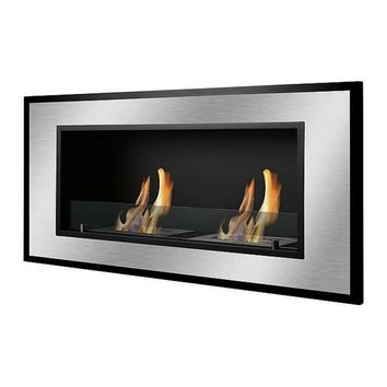"Ignis Belezza - 47"" Built-in/Wall Mounted Ethanol Fireplace (WMF-023)"