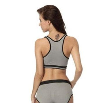 ca DCCKTM4 Seamless Racerback Fitness Sports Yoga Push Up Bra Vest Tops [8384287623]