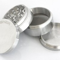 Indian Crusher 2.0 Inch Zinc 4 Piece Tobacco Spice Herb Grinder