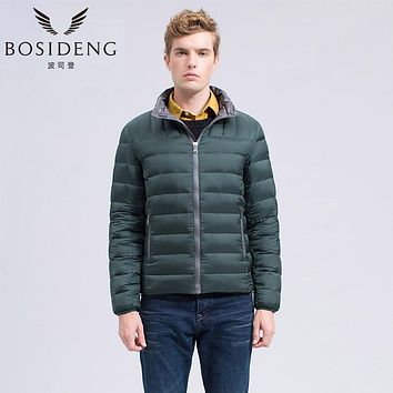 BOSIDENG winter fleece thermal casual down coat male duck down jacket Water Repellent Water-based Stain Resistant B1401031t