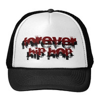 Black and White Forever Hip Hop Hat