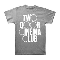 Two Door Cinema Club Men's  Logo Slim Fit T-shirt Grey Rockabilia