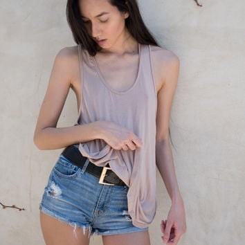 Theia Tank in Blush