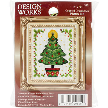 """Christmas Tree Ornament Counted Cross Stitch Kit-2""""""""X3"""""""""""