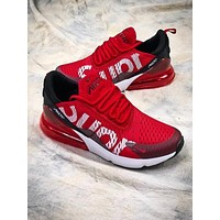Supreme x Nike Air Max 270 Sup Red White Sport Running Shoes AH8050-610