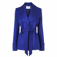 Danoe Wool and Cashmere Belted Coat Ultra Violet L.K.Bennett
