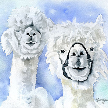 Alpacas Watercolor