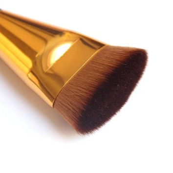 2016 Simple Make Up Brushes Black Gold  Color  1pcs Professional Cosmetic Flat Contour Brush Face Blend Makeup Brush &p1