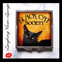 Black Cat Pill Box  Black Cat Society by LaughingVixenLounge