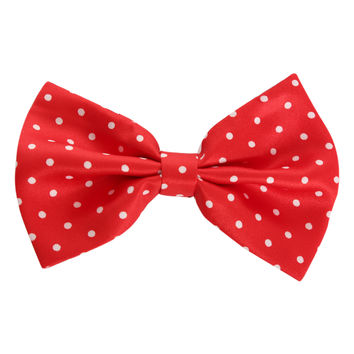 LOVEsick Red And White Polka Dot Hair Bow