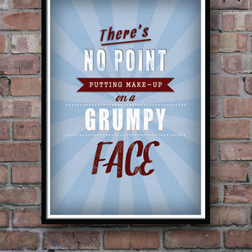 Typography poster, motivational poster, funny poster, retro poster, wall art, wall decor