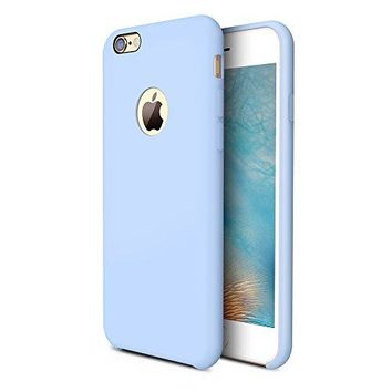 iPhone 6s Case, TORRAS [Love Series] Liquid Silicone Rubber iPhone 6 6S Shockproof Case with Soft Microfiber Cloth Cushion (4.7 inches)- Light Blue