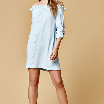 MinkPink Business Off-The-Shoulder Dress at PacSun.com