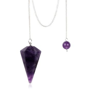 Natural Stones and Crystal Pendulums Many Colors Healing Dowsing Beads
