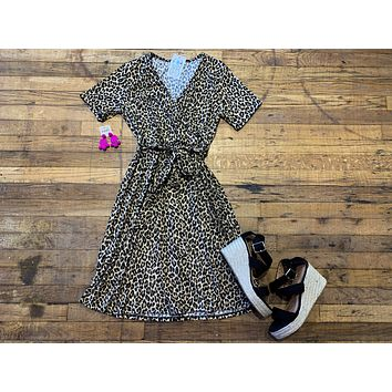 SALE! Seriously Chic Leopard Wrap Dress