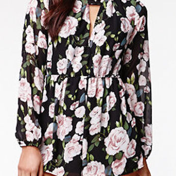 Tea Time Floral Romper by Reverse