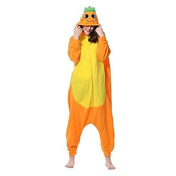 Unisex Carrot Jumpsuit Cosplay Costume Pajamas One Piece Loungewear