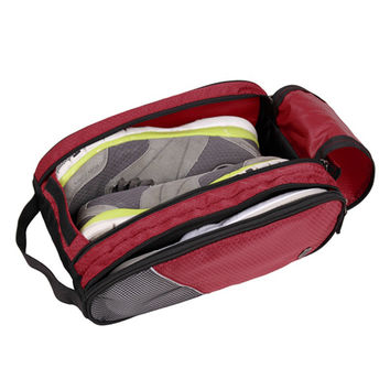 Portable Waterproof Breathable Shoes Bag Unisex Red Travel Shoes Bag Little Luggage Travel Bags