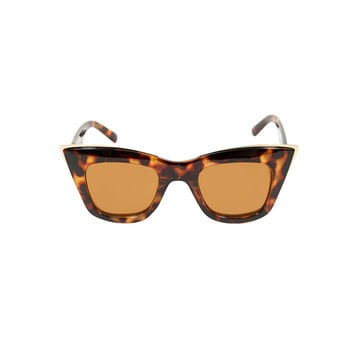 Ginger Cateye Sunglasses in Tortoise