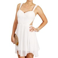 Sarah- Ivory Cut Out Sides Short Dress