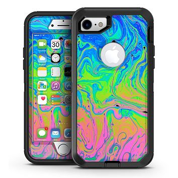 Neon Color Swirls - iPhone 7 or 7 Plus OtterBox Defender Case Skin Decal Kit