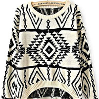 Geometry Sweater White