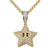 Men's Game Character Mini Star Double Sided Pendant Chain