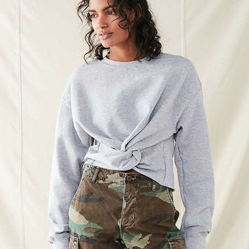 Urban Renewal Recycled Twist Front Sweatshirt | Urban Outfitters