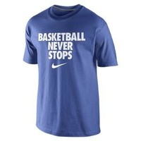 "Nike Store. Nike ""Basketball Never Stops"" Men's T-Shirt"