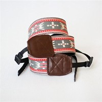 MP Red Embroidery Handmade Camera Strap 052812 MDP 0617