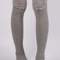 Cupshe Warm Up To Me Thigh-high Socks